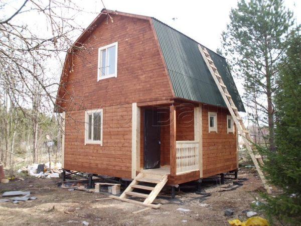 Баня из бруса 5х6 в поселке Мшинская