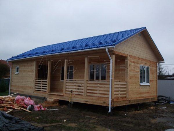 Одноэтажная баня 6х12 в поселке Кондакопши