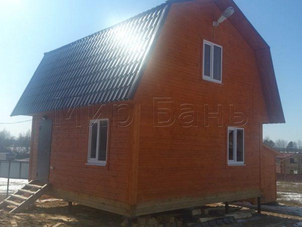 Баня 6х6 с ломанной крышей в поселке Боровки