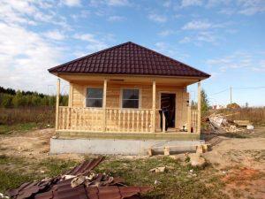 Баня 6х7 с террасой в поселке Войсковицы