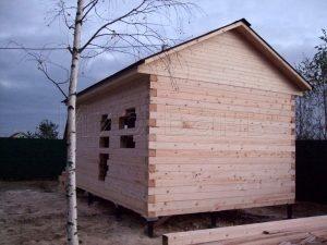 Сруб бани 4х6 в деревне Турышкино