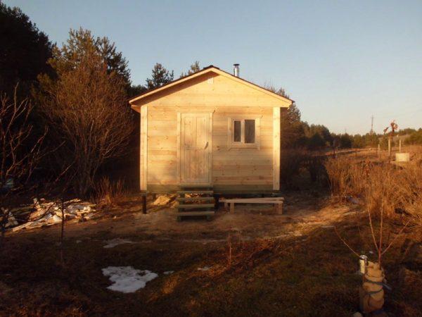 Небольшая баня под ключ 4х4 в деревне Заполье