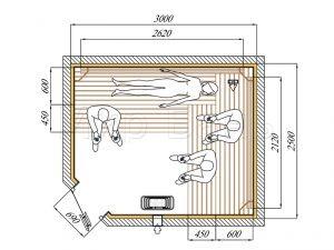 Оптимальный размер парилки в бане